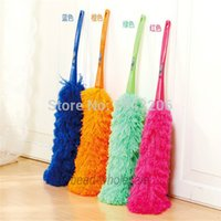 Wholesale Low Price Sale x Soft Microfiber Cleaning Feather Duster Flexible Anti Static Dust Cleaner New small order no tracking