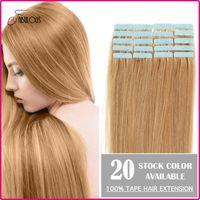 Wholesale Cheap Tape Hair Extenisons quot quot quot quot quot set Remy Human Hair Tape Hair Skin Weft Brazilian Hair Extension Big Promotion