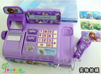 Wholesale hot sale retail NEW Voice glowing Hot Selling froze Multi function cash register Play educational toys