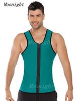 Wholesale w1022 men weight loss workout exercise Sport Neoprene vest sauna tank top waist cincher trainer gym slimming hot body shaper