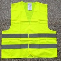 safety clothing - 10pcs Green orange Reflective safety vest coat Sanitation vest Traffic safety warning clothing vest Y68