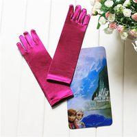 Wholesale 2015 girls frozen Anna Elsa snow Romance elsa princess dress gloves long barreled pair