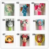 cell parts - 2015 New Cartoon Silica Gel Cell Phone Parts Winder Cute Boys Girls Pony Froze Minnie Cat bobbin cable tidy wirding thread tool D3702