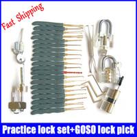 ab locks - high quality popular practice lock set lock pick set transparent lock AB practice lock for Beginner traning skill