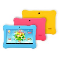 al por mayor tablet pc quadcore-¡Envíe de los EEUU! IRULU 7 pulgadas Kids Tablet PC Android 4.4 Allwinner A33 Niños tabletas Quadcore niño Tablet PC con el caso