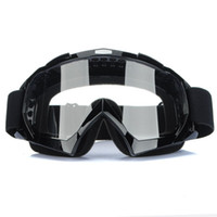 Wholesale Super Black Motorcycle Bike ATV Motocross Ski Snowboard Off road Goggles FITS OVER RX GLASSES Eye Lens