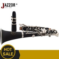 Wholesale NEW JZCL professional Clarinet Key Bb Flat Soprano Nickel Plated Exquisite with Clarinet case reed Cleaning Cloth Gloves