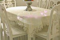 Wholesale High end Fashion Square Beige Table Cloth cm