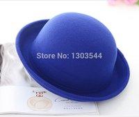 Wholesale 2014 Fashion Winter Hat Vintage Women Lady Cute Trendy Wool Felt Bowler Derby Fedora Hat Cap for Women FEAL HT73