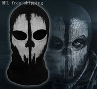 Wholesale 10 models New call of duty X Ghosts Mask Outdoor Hat Cycling Bike Motorcycle Windproof DHL Top quality CS Game Face Christmas Balaclava