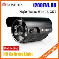 cctv ir led camera - CCTV Camera quot CMOS HD Line Bullet Camera IR Array LED Night Vision Waterproof Security Camera IR CUT Woshida