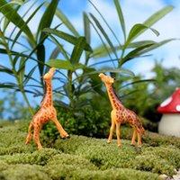 Wholesale 1pcs Giraffe Garden Miniatures Landscape Garden Doll Decoration cm