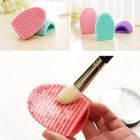 Wholesale Brushegg Egg Cleaning Glove Pro Cleaning Makeup Washing Brush Silica Glove Scrubber Board Cosmetic Clean Tools Brush Cleaner