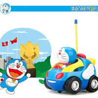 baby music boxes - Doraemon Baby Toy Remote RC Car Control Toys Mini Red Car Toy With Glow And Music With Retail Box Birthday Gift
