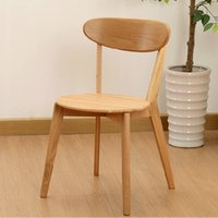 Wholesale Nordic household leisure fashion chair modern dining chair white oak solid wood chair