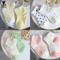 Wholesale pieces pair cotton Baby socks newborn floor socks kids cotton short socks girl and boy socks CS079