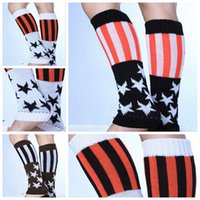 wool boot socks - LJJD3266 pairs New Winter Leg warmers Boot Cuff Hot Sale Women Knitted Leg Warmers Foot socks boot cuff Flag knit leg warmers