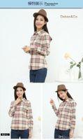 basic flannel - Hot Sale Women Shirts tops new Cotton Flannel Plaid Shirt Female Student Women s Long sleeve Plus Size Basic Blouses