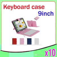 Wholesale 9inch tablet pc Keyboard Flip Stand Case Cover USB Keyboard ZY L11