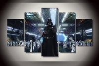 star wars cartoon pictures with best reviews - 5Pcs With Framed Printed Star Wars Movies Painting on canvas room decoration print poster picture canvas Free shipping pictures for walls