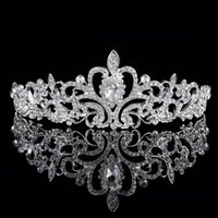 Wholesale Crystals Rhinestone Bridal Tiaras Crowns Charm Wedding Jewelry Girls Christmas Evening Prom Homecoming Party Hairband Hair Crown Accessories