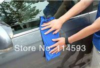 Wholesale 30cmx30cm Blue Microfiber Towel Car Wash Cleaning Polish Cloth