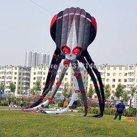 animal stunts - 3D m capricorne noir poulpe kite ligne Stunt Parafoil Sport jouets de plein air