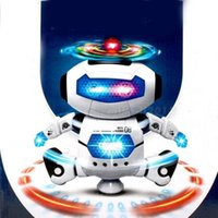 Wholesale DHL Electronic Walking Dancing Smart Space Robot Astronaut Kids Music Light Toys