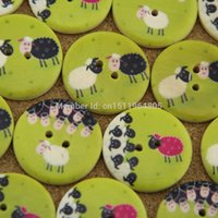 other wood sheep - mm holes mixed painted sheep wood buttons Children s clothes button accessories scrapbooking