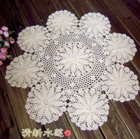 Wholesale new fashion cotton crochet lave small round table tablecloth table cover for home decor towel for table mat