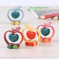 apple crafts - mini microlandschaft cute craft Moss micro landscape ornaments fleshy flower doll ornaments DIY materials assembled apple ca