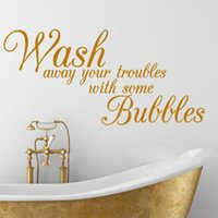 away room - Wash Away Your Troubles waterproof removable vinyl wall art decal stickers decorative Bathroom Quote decals f3000