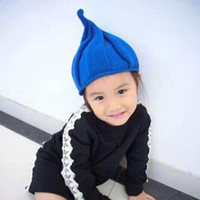 Wholesale 1 New Autumn Winter Warm Children Knitted Cap Acrylic hats For Boy And Girl Skullies Beanies Watermelon cap