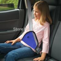 Wholesale Promotion New Stylish Car Child Safety Cover Shoulder Harness Strap Adjuster Kids Seat Belt Clip Blue