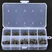 Wholesale 3 to Fishhooks Barbed Hooks Pieces In One Plastic Box Fishing Gear