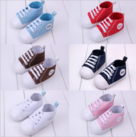 Wholesale Baby Boys Girls soft Sneakers Babies Non slip toddler shoes Kids Canvas first walker shoes