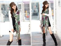 Wholesale QW077 hot new spring Korean version of voile Begonia flower shawl scarf scarves