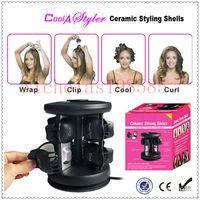 hair salon equipment - Brand New Solid Ceramic Tourmaline Styling Shells Magic Hair Curler pro Salon Equipment Salon ceramic styling shells V V Curling Irons