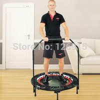Wholesale household adult fitness equipment trampoline slimming butt lifting elevator trampoline jumping bed with arm