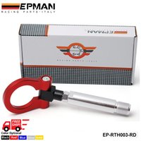 auto racing accessories - EPMAN Free DHL New design auto accessories universal auto aluminum Car Racing front rear tow hook for Toyota Yaris EP RTH003