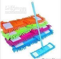 Wholesale Microfiber Dust Chenille mop kit duster easy magic Telescoping adjustable Handle flat floor cleaner