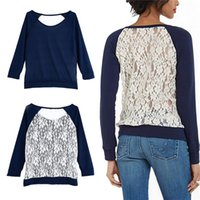 blouse free size - New Arrivals Fashion Women Lady Cotton Lace Tops Shirt Blouse Casual long sleeve S to XXL Sizes DX285