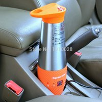 Wholesale DHL Free Heating cup for car V auto Electric Kettle electric car electric hot water heater travel mug auto mug cup kettle