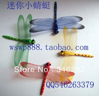 artificial dragonfly - Mini dragonfly beautiful magnetic artificial dragonfly refrigerator stickers for toys