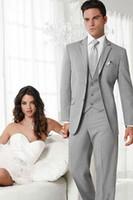 dress suit for men - Hot Sale Three Pieces purfle process Gray Men s Wedding Suits Wedding suits for men Groom Wedding Suits Men s Wedding Dresses
