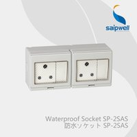 RoHS africa plug - Saipwell Electrical Equipment Supplies waterproof plug and socket with pin three key dual control South Africa Standard