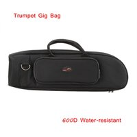 Wholesale Professional Trumpet Gig Bag Case D Water resistant Oxford Cloth Design with Adjustable Single Shoulder Strap Top Quality