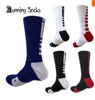 ankle compression socks - Wholesales USA Professional Elite Basketball Socks Long Knee Athletic Sport Socks Men Fashion Compression Thermal Winter Socks for men brand