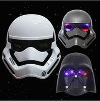 Wholesale Star wars LED Lighting Masks Darth Vader Empire Storm Clone Black Knight White Soldiers Party Mask Supply Boys Gifts