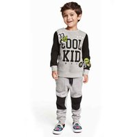 baby active wear - Active Baby Boys Autumn Sport Cloth Set Shirt And Pant Fashion Infant Children Suit Pattern Kids Clothing Set Kids Wear